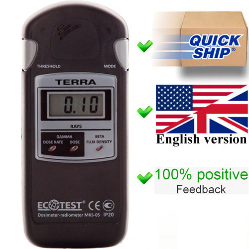 Terra MKS 05 Ecotest 線量計/放射計/ガイガーカウンター/放射線検出器 /ポータブル線量計/放射線測定器 Dosimeter/Counter