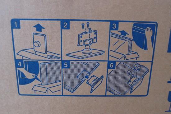 TH-32D325の箱の取り出し図