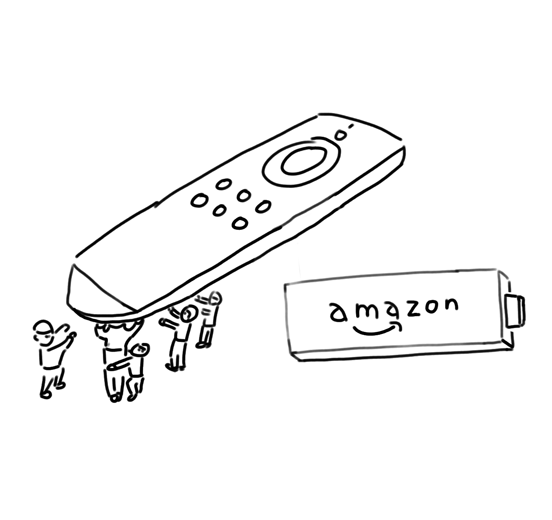 Fire TV Stickとリモコン