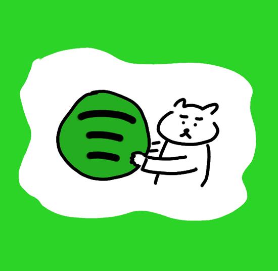 Spotifyと猫