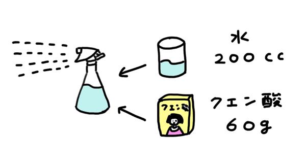 クエン酸水の作り方