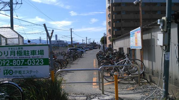 周船寺の駐輪場