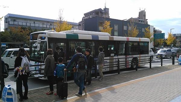 mark is 福岡ももちのシャトルバスのバス停の写真