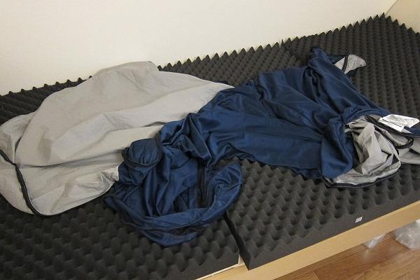 ニトリの点で支える体圧分散敷布団のカバーを洗濯した後の写真