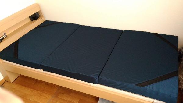 ニトリ点で支える体圧分散敷布団の写真