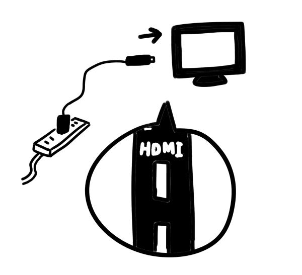 Fire TVのつなぎ方のイラスト