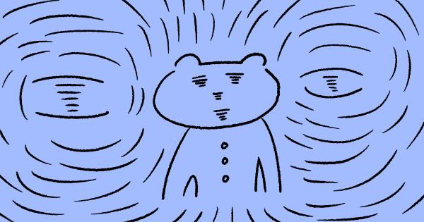 目の奥が痛い猫のイラスト