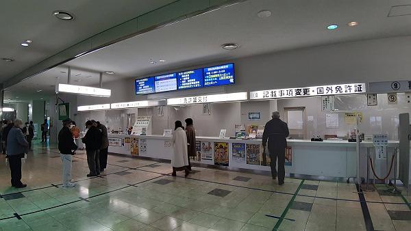 福岡免許センターの中の写真